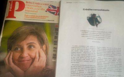 Entrevista pela IN Corporate Magazine do Jornal Público – Crédito consolidado