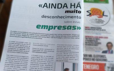 Crédito Consolidado – Entrevista à Findigno na Valor Magazine – Semanário Sol